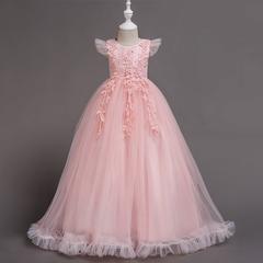 RONI Girl lace exquisite dress kids wedding dress flower girl dress party dress performance clothes 01 120cm