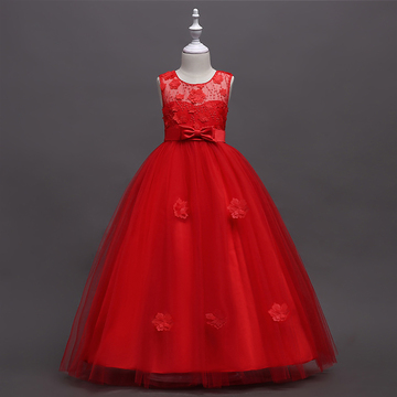 39a6d931c RONI Girl elegant flower princess dress kids wedding dress birthday party  dress performance clothes 01 130cm
