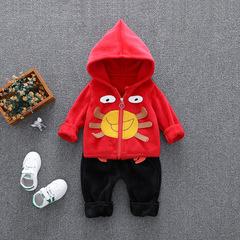 RONI Autmn baby girl warm clothes suit boy kids cute coat+pants two-piece set 01 80/s