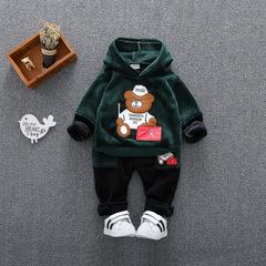 RONI Winter baby boy warm clothes suit girl  cute bear coat +pants two-piece suit kids clothing 01 80/s