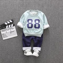 RONI Autumn baby boy cotton clothes suit kids digital printing coat+pants two-piece set 01 80/s