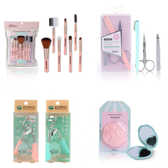 RONI Women Makeup Suit Lady Makeup Brush Set + Thrush Tool Set + Mascara Clip+Mirror Combination Set random