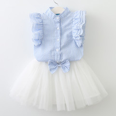 RONI Summer baby girl clothes suit kids sweet T-shirt+skirt two-piece set 01 100