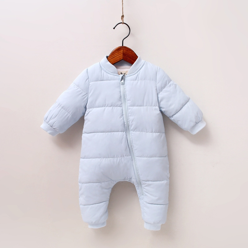 6e82b7016 RONI Winter Baby girl cute warm cotton-padded clothes newborn jumpsuit boy  crawl suit 01 80cm