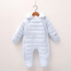 RONI Winter girl  warm cotton-padded clothes newborn jumpsuit boy crawl suit  Baby sleeping bag 01 66cm