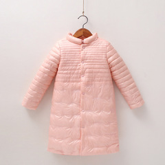 RONI Winter girl warm cotton-padded clothes kids long embroidered coat 01 110cm