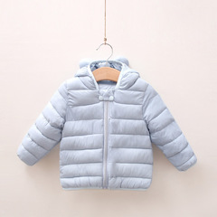 RONI Winter baby girl warm cotton-padded clothes boy pure color  jacket coat 01 80cm