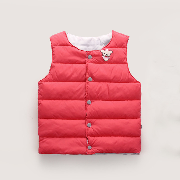 82f86e48679a RONI Autumn baby girl cotton-padded clothes boy bear printing vest ...