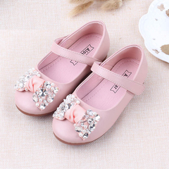 RONI Baby girl  flat soles dress shoes sweet princess shoes kids formal shoes students leather shoes 01 24