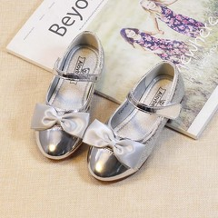 RONI Baby girl  dress shoes bowknot princess shoes kids formal shoes students leather shoes 01 26