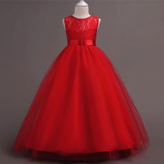 RONI Girl lace dress wedding dress flower girl dress birthday party dress kids formal clothing 01 120cm