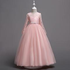RONI Girl diamond dress wedding dress flower girl dress birthday party dress kids formal clothing 01 120cm