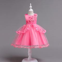 RONI Girl flower dress wedding dress flower girl dress birthday party dress kids formal clothing 01 110cm