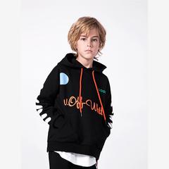 RONI Autumn boys fashion cap coat kids striped print tops 01 110cm