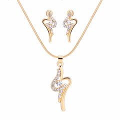 Promotion RONI Lady fashion elegant  diamond necklace earrings two-piece set 01 all code