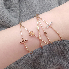 RONILadies fashion  exquisite heart-shaped anchor arrowhead 5-piece bracelet set watch accessories. 01 all code
