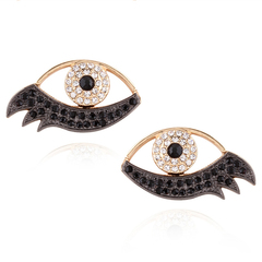 RONI Lady exquisite earnail women creative new eye shape diamond ear nail 01 all code