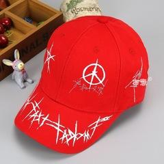 RONI Boy fashion five-pointed star graffiti adjustable baseball cap girl  kids sunshade hat 01