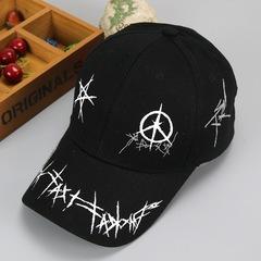 RONI Boy fashion five-pointed star graffiti adjustable baseball cap girl  kids sunshade hat 02