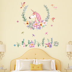Unicorn sticker theme children's room party decorative background wall self-adhesive wall stickers 01 refer to details chart