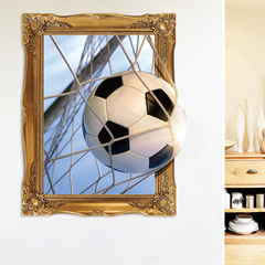 3D soccer World Cup wall stickers, bedroom living room dormitory background  removable sticker 01 refer to details chart