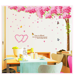 Cherry tree wall stickers  living room bedroom background wall decoration  self-adhesive wall paper 01 refer to details chart
