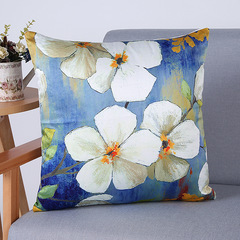 RONI Imitation silk  classical printing pillowcase flower printing sofa cushion cover 01 45*45cm