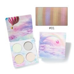 RONI Four-color high light eye shadow disk high light powder cake repair eye shadow disk 01#