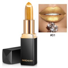 RONI 2018 New shiny metallic lipstick pearl lipstick 01#