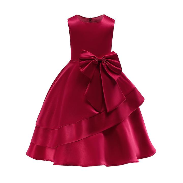 RONI Girl  elegant dress  flower girl dress Princess dress kids wedding dress party dress. 01 100cm
