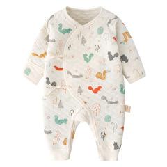 RONI 2018 New Baby girl 100 % cotton warm clothes Newborn cartoon  jumpsuit boy crawl suit 01 52cm