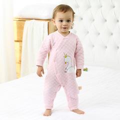 RONI Autumn baby girl 100 % cotton warm clothes newborn jumpsuit boy crawl suit 01 59cm