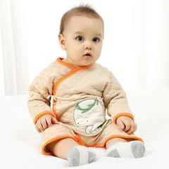 RONI Autumn baby girl 100 % cotton warm clothes newborn cute jumpsuit boy crawl suit 01 59cm
