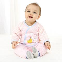 RONI Winter baby girl 100 % cotton warm clothes suit boy cartoon T-shirt + pants two-piece set 01 66cm