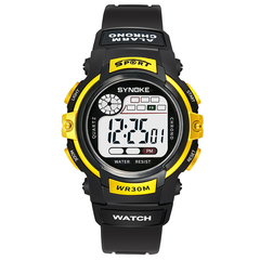 RONI Boy multifunctional sports electronic watch girl kids waterproof night light watch student gift 01 all code