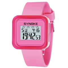 RONI Boy fashion sports electronic watch girl kids waterproof night light watch student gift 01 all code