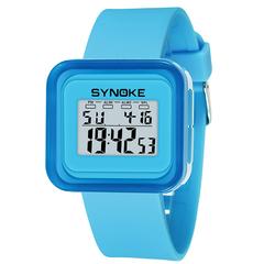 RONI Boy fashion sports electronic watch girl kids waterproof night light watch student gift 03 all code