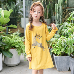 RONI 2018 New girl 100% cotton clothes kids cute printed dress 01 3-4/110cm