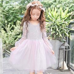 RONI Girl  Princess Dress Flower Girl Lace Dress  Birthday Party Stage Dress 01 3-4/110cm