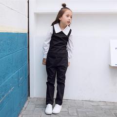 RONI Spring girl 100% cotton clothes suit kids shirt+pants two-piece set 01 3-4/110cm