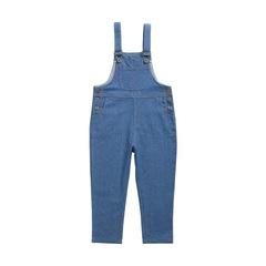 RONI Autumn girl 100% cotton jeans kids strap pants nine cents overalls 01 3-4/110cm