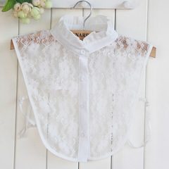 RONI Lady lace decorative collar summer white lace shirt collar lotus collar 01 all code
