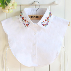 RONI Women fashion cotton decorative collar  flower embroidery shirt collar 01 all code