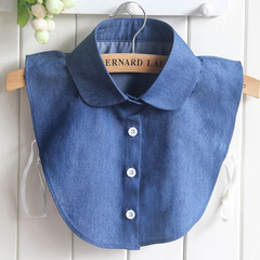 RONI Lady cotton shirt collar fashion denim decorative collar sweater accessories 01 all code