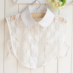 RONI Lady lace decorative collar summer white lace shirt collar  sweater accessories 01 all code