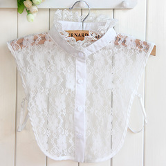 RONI Lady lace decorative collar summer white lace shirt collar clothes accessories 01 all code