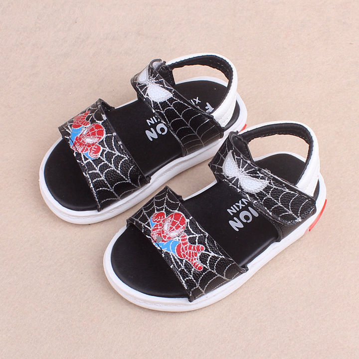 RONI Summer boy Spider-Man sandals kids  LED lights shoes 01 21