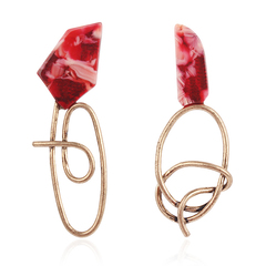 RONI Ladies fashion special-shaped resin earrings dress accessories 01 all code