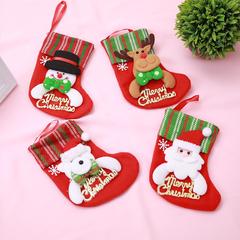 RONI 4pcs Christmas decorations cartoon Christmas socks children gift bag Christmas tree pendant 01 all code