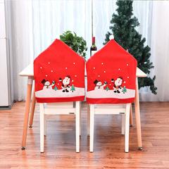 RONI Christmas table decoration Christmas big hat chair cover 01 1pcs